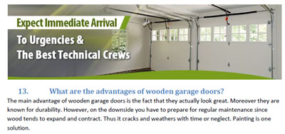 FAQs - Garage Door Repair Camas
